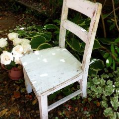 old white chair